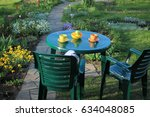Garden Furniture Among Flowers...