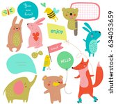 vector set of template with... | Shutterstock .eps vector #634053659