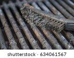 dirty grill   brush | Shutterstock . vector #634061567