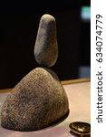Small photo of Concept of balance and harmony. Harmony and balance. Stone balance. Zen stones. Balanced rocks. Zen like