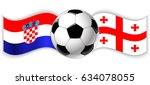 croatian and georgian wavy... | Shutterstock .eps vector #634078055