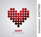heart with a dot pattern ... | Shutterstock .eps vector #634079885