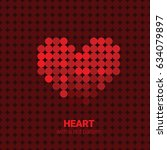 heart with a dot pattern and... | Shutterstock .eps vector #634079897