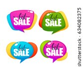 big sale  vector collection of... | Shutterstock .eps vector #634082375