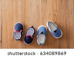 closeup little shoes for baby...   Shutterstock . vector #634089869