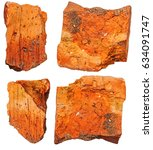 broken brick piece isolated on...   Shutterstock . vector #634091747
