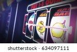 casino slot games playing... | Shutterstock . vector #634097111
