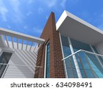 modern house 3d illustration | Shutterstock . vector #634098491
