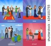 celebrity 2x2 design concept... | Shutterstock .eps vector #634101755