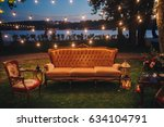 wedding. in the forest on the... | Shutterstock . vector #634104791