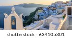 sunset in santorini  greece | Shutterstock . vector #634105301