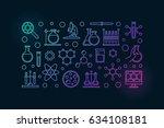 chemistry lab illustration  ... | Shutterstock .eps vector #634108181