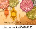 ramadan kareem celebrate... | Shutterstock .eps vector #634109255
