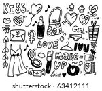 doodle love | Shutterstock .eps vector #63412111