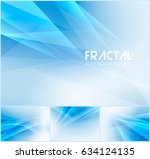 fractal abstract background... | Shutterstock .eps vector #634124135