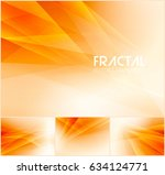 fractal abstract background... | Shutterstock .eps vector #634124771