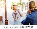 smiling couple with the camera | Shutterstock . vector #634127051