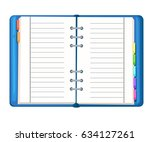 daily log. vector web template... | Shutterstock .eps vector #634127261