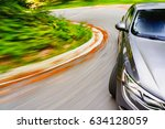 generic car driving fast on a