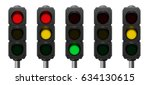 traffic lights with overview of ... | Shutterstock .eps vector #634130615