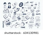 set of business marketing doodle | Shutterstock .eps vector #634130981
