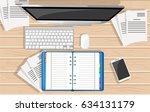 concept for website banners man ... | Shutterstock .eps vector #634131179