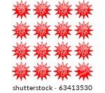 raster set of sales stickers   Shutterstock . vector #63413530