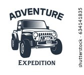 off road vehicle vector emblems | Shutterstock .eps vector #634141835
