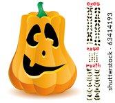 halloween pumpkin with big set... | Shutterstock .eps vector #63414193