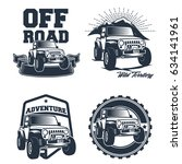 off road vehicle vector emblems | Shutterstock .eps vector #634141961