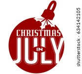 christmas in july ornament icon | Shutterstock .eps vector #634142105