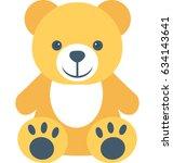 teddy bear vector icon | Shutterstock .eps vector #634143641