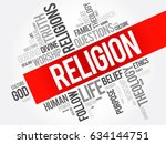 religion word cloud collage ... | Shutterstock . vector #634144751