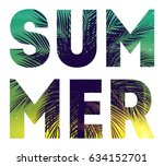 summer natural placard  poster  ... | Shutterstock .eps vector #634152701