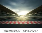 f1 evening circuit motion blur... | Shutterstock . vector #634164797