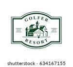modern golf logo   luxury... | Shutterstock .eps vector #634167155