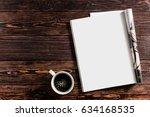 magazine mockup | Shutterstock . vector #634168535