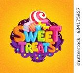 sweet treats. cartoon vector... | Shutterstock .eps vector #634175627