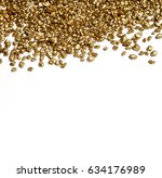 grains of gold. gold ore. | Shutterstock . vector #634176989