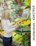 beautiful young woman shopping...   Shutterstock . vector #63417919