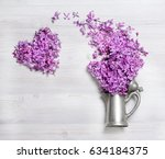 stylish old kettle branch of... | Shutterstock . vector #634184375