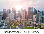 Stock photo montreal downtown sunrise 634184927