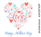 mothers day typography.happy... | Shutterstock .eps vector #634187609