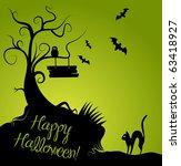 halloween background | Shutterstock .eps vector #63418927