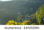 early morning haitian foggy... | Shutterstock . vector #634202081