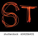 isolated uppercase letter s and ... | Shutterstock . vector #634206431