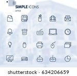 simple set of office related... | Shutterstock .eps vector #634206659