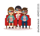 people with glasses 3d | Shutterstock .eps vector #634211111