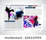sport brochure layout | Shutterstock .eps vector #634214594