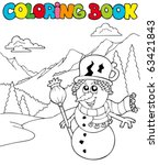 coloring book with cartoon... | Shutterstock .eps vector #63421843
